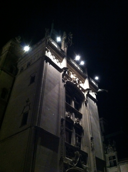 Biltmore House at night.  SPOOKY!