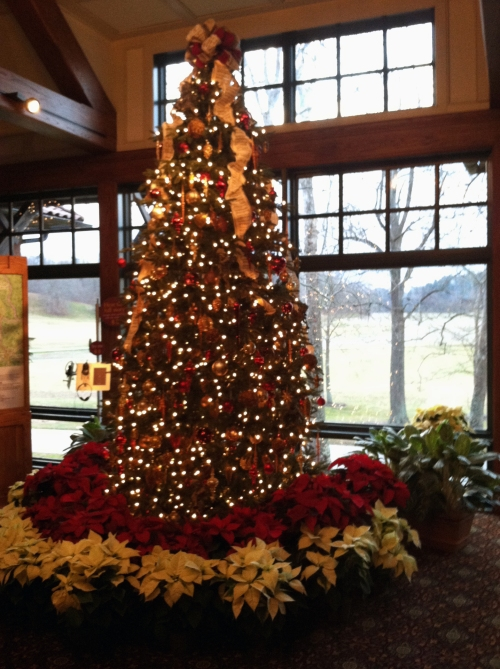 Tree in ticket center at Biltmore Estate.